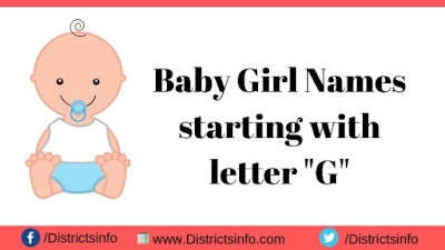 """Baby Girl Names starting with the letter """"G"""""""