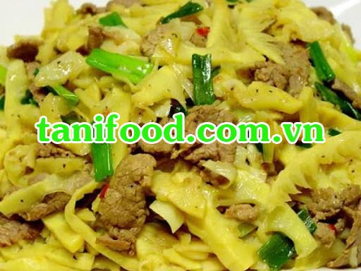 tanifood, măng xào thịt bò, món ăn ngon, tìm món ăn, cơm gia đình