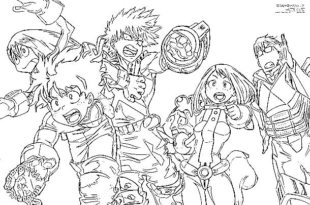 Dibujos Para Colorear No Imprimir: Izuku Midoriya (Boku No Hero Academia) Para