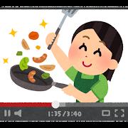 料理動画のイラスト(女性)