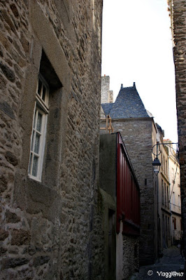 Case e vie medievali nel centro intramuros di Saint Malo