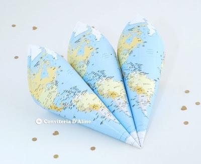 cone atlas festa volta ao mundo decoracao