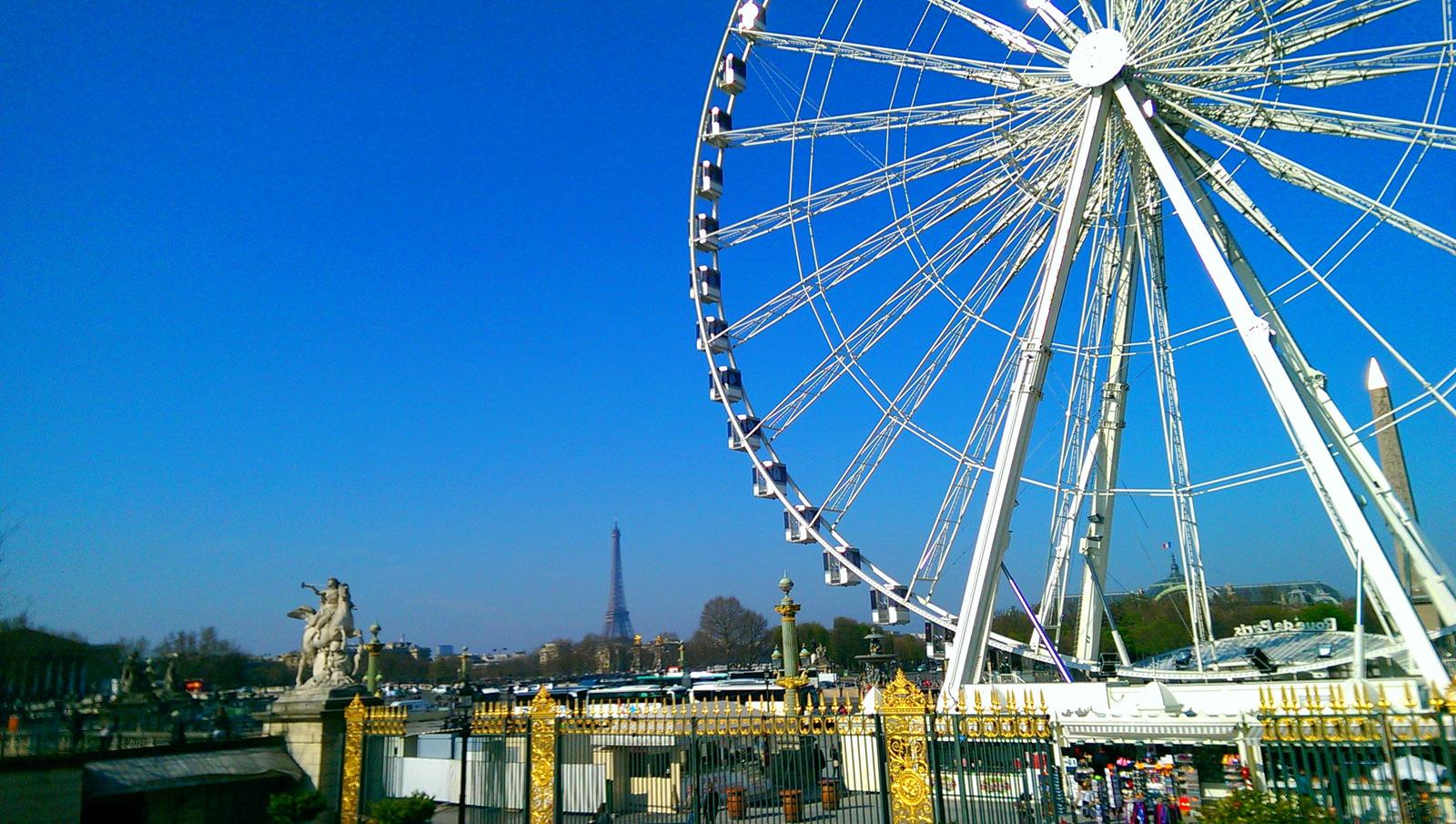 Panorama desde los jardines de las Tullerías. París, marzo 2017