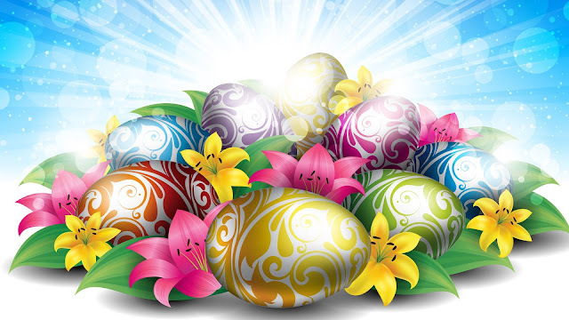 Easter egg decorative wallpapers