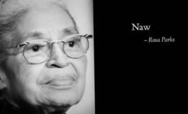 Imagem preto e branco da Rosa Parks