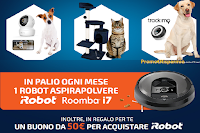 """Concorso """"Advance ti premia"""" : vinci Tiragraffi, Videocamera Sorveglianza, GPS Tracker, Robot Roomba e in regalo un buono da 50euro"""