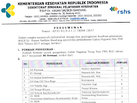 Lowongan Kerja Non PNS RSUP Dr.Hasan Sadikin Bandung Tahun 2017