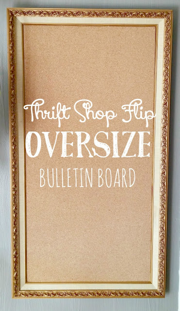 Turn a large framed print into an awesome bulletin board
