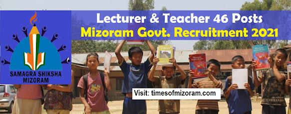 Mizoram Sawrkhar Zirtirtu Hnaruak Lecturer & Teache