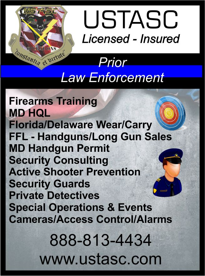 Firearms Training/Security/Detectives FIREARMS SALES