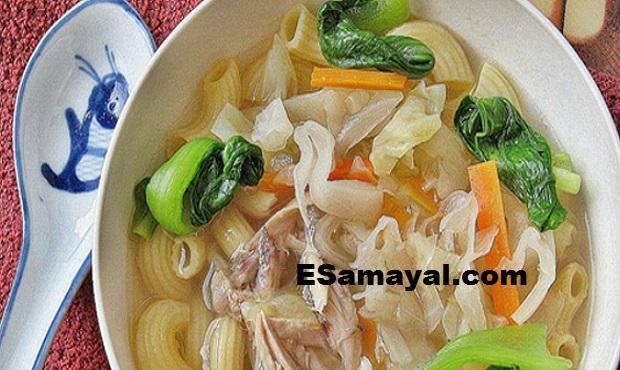 மக்ரோனி சூப் செய்வது | Make Macaroni Soup Recipe !