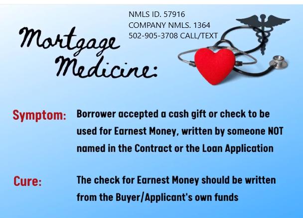 earnest money deposit for a Kentucky mortgage loan