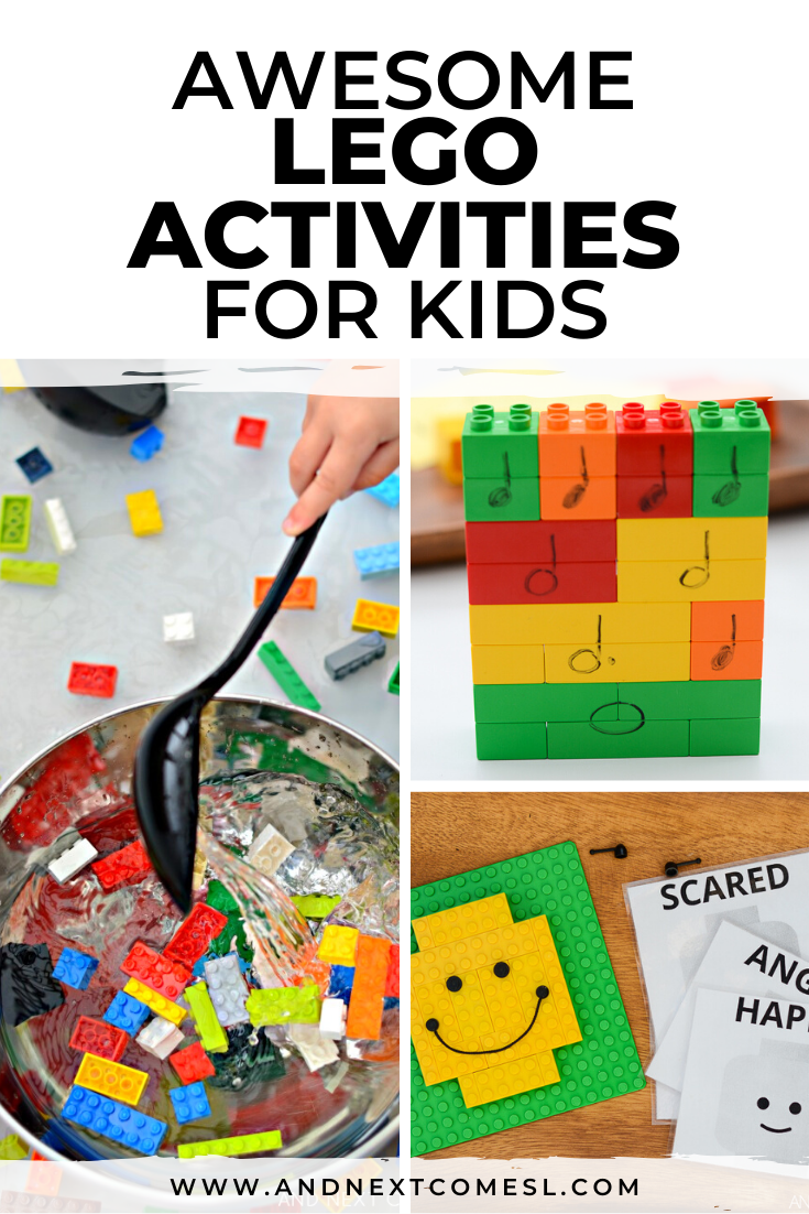 LEGO activities for kids to do at home or in the school classroom - ideas for preschool, toddlers, kindergarten, and elementary students. Plus, some awesome free LEGO printables!