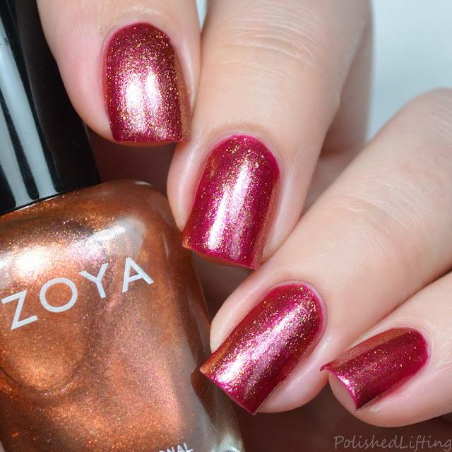copper metallic nail polish topper