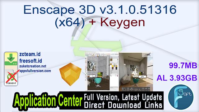 Enscape 3D v3.1.0.51316 (x64) + Keygen_ ZcTeam.id