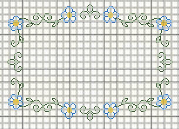 Wonderful Cross Stitch Floral Border RS25 \u2013 Advancedmassagebysara