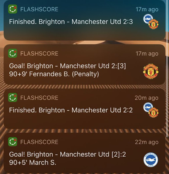 Manchester United appear to score a match-winning penalty against Brighton after full-time whistle