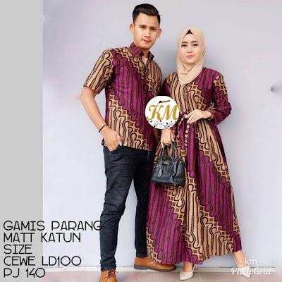 Contoh Baju Couple Baju Gamis Batik Busana Muslim Terbaru 2018 Batik Pattern Motif Parang Ungu