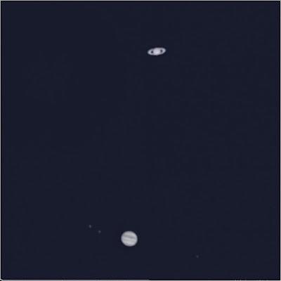 Conjunció Júpiter i Saturn - 21/12/2020