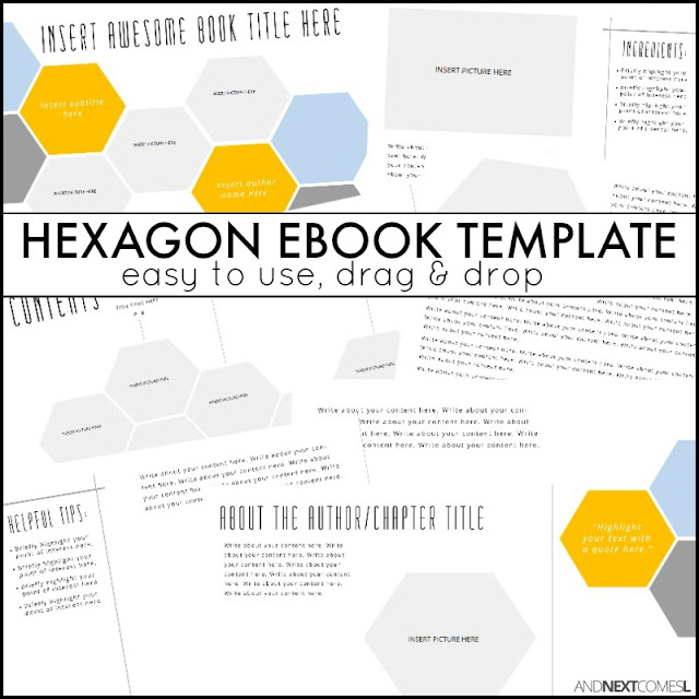 Hexagon eBook Template | And Next Comes L