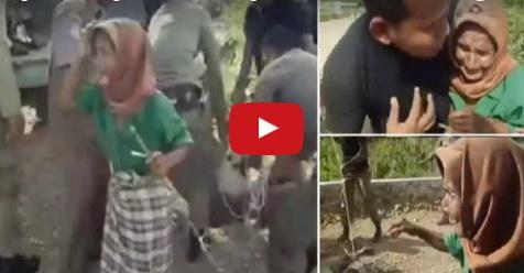 VIDEO: Nenek Ini Menangis Meronta-Ronta Saat Hewan Ternaknya Diangkut Satpol PP