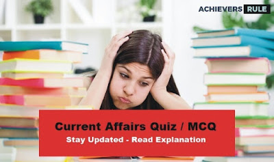 Daily Current Affairs MCQ - 20th September 2017