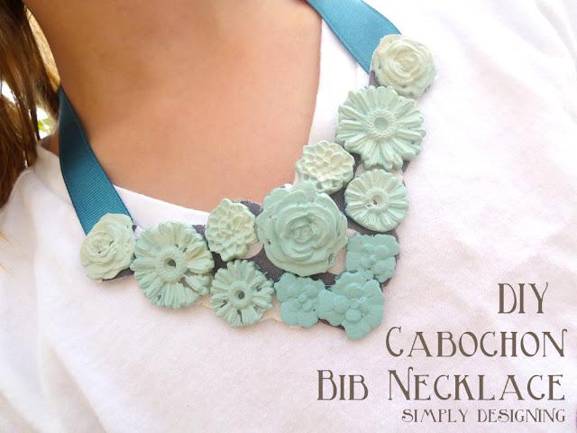DIY Ombre Cabochon Bib Necklace - #ModMelts #spon #ombre #diyjewelry #jewelry #cabochon #bibnecklace