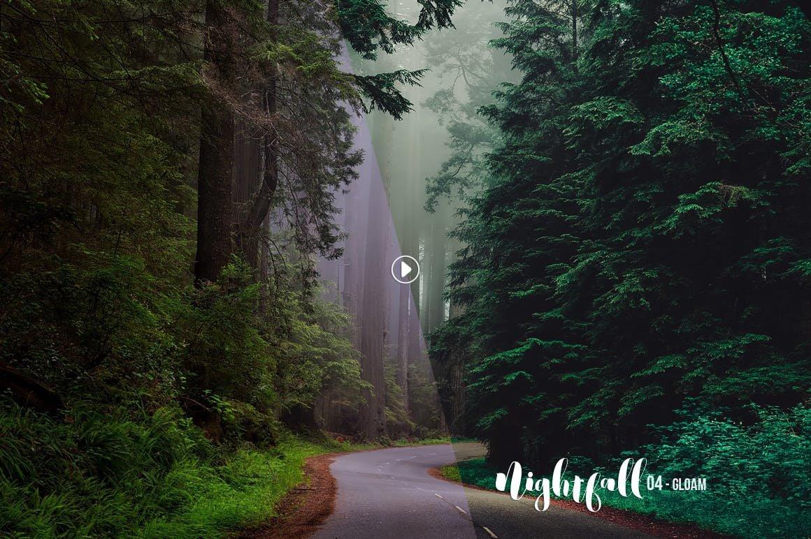 Preset Lightroom Desktop - Nightfall Dark Lightroom Presets (LR)