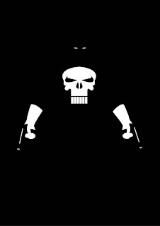 cartel minimalista  de super héroe Punisher