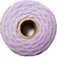 cotton cord lilac purple
