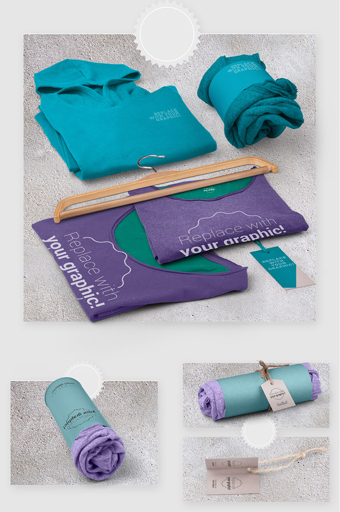 Apparel Product Packaging Texture Mockup