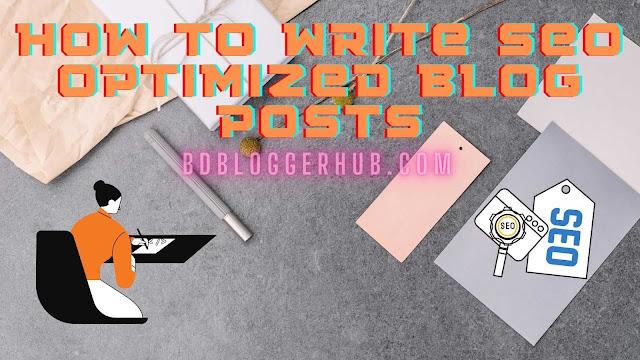 write seo optimized blog posts