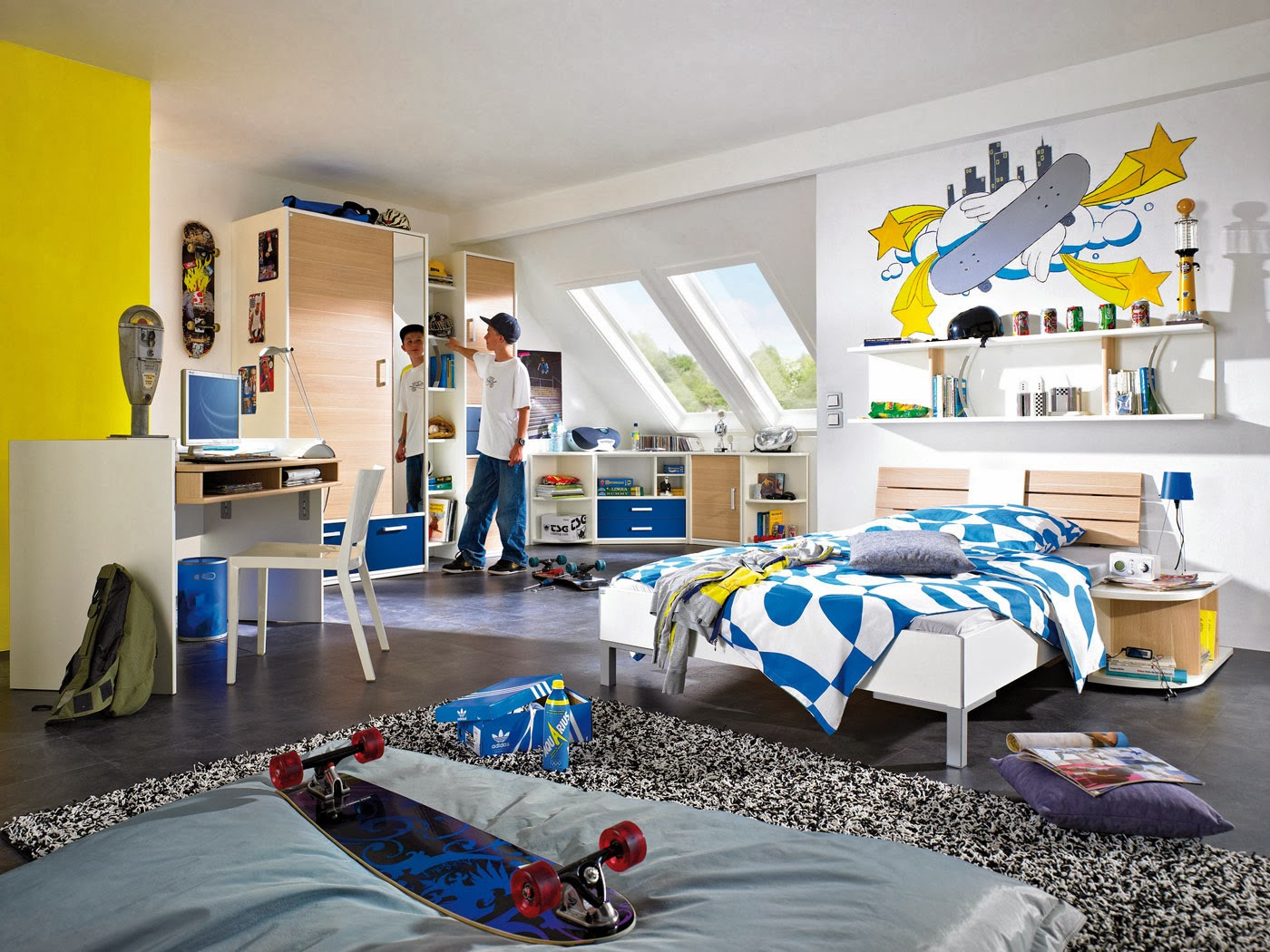 Dormitorios tema skate dormitorios colores y estilos - Habitaciones juveniles con estilo ...