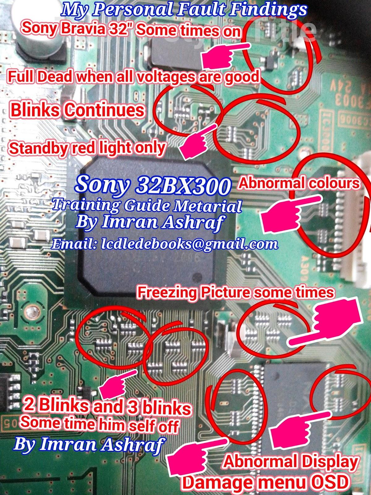 Sony KLV32T550 Faults Findings