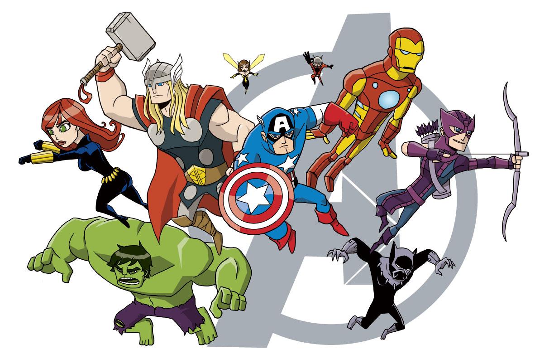 Avengers Cartoon Characters Wallpaper Hd 2015