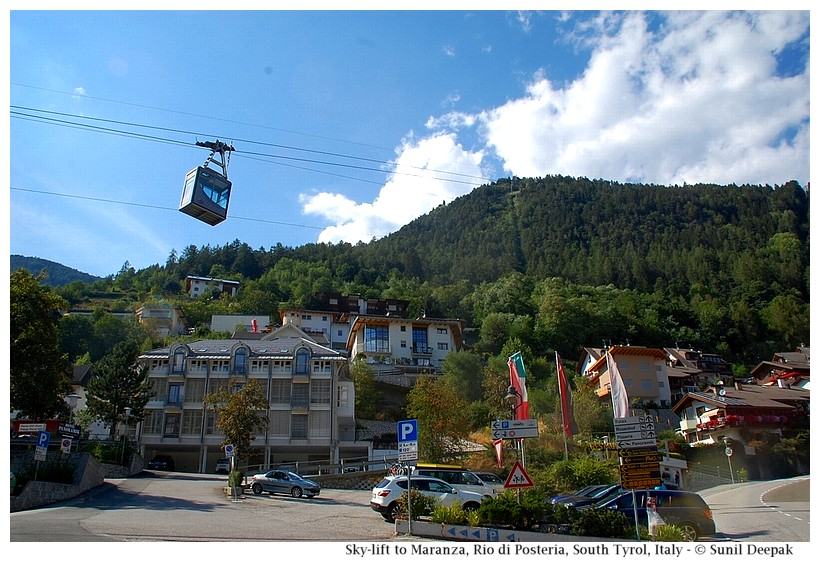 Cable car of the sky-lift to Maranza, Rio di Pusteria, South Tyrol, Italy - Images by Sunil Deepak