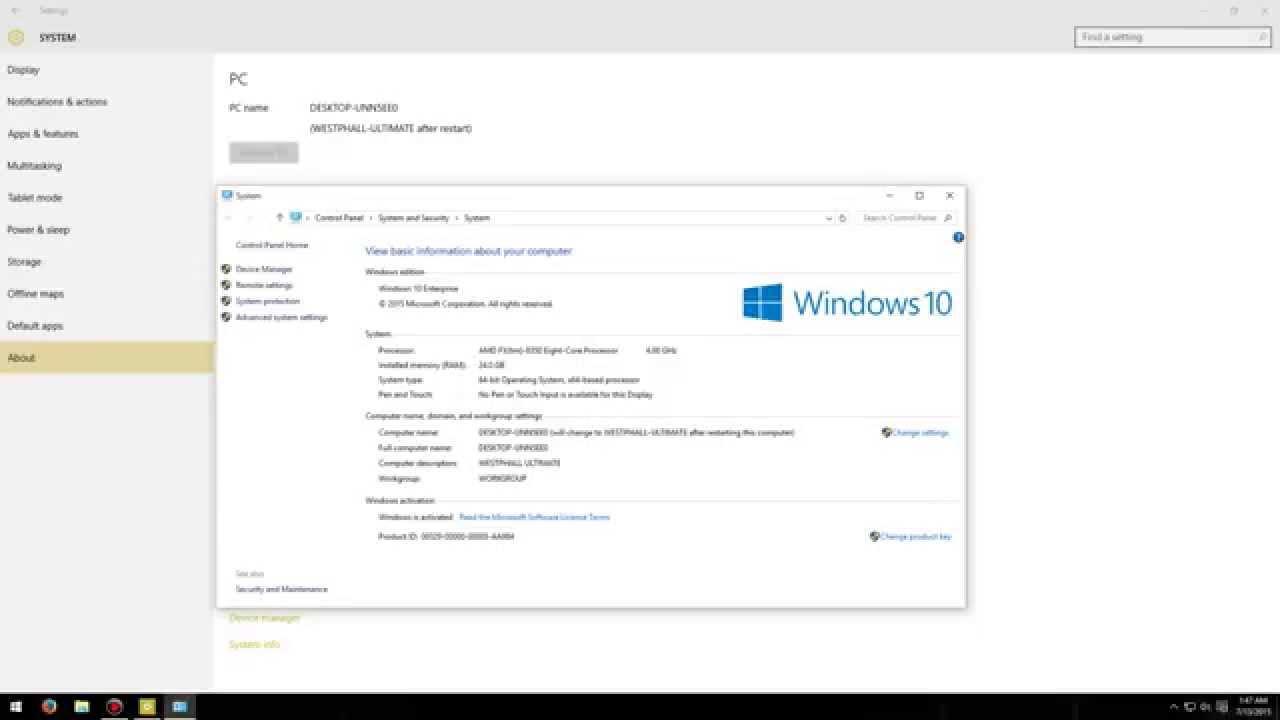 Windows on Windows 10 Product Key 2yt43