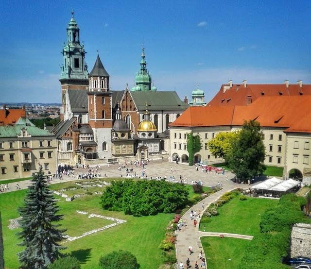 Castelo Wawel. Cracóvia, Polônia