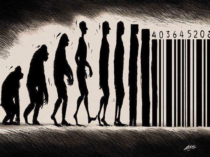#4. Barcode Humans - 15 Funny Cartoons To Prove Evolution Has A Twisted Sense Of Humor.