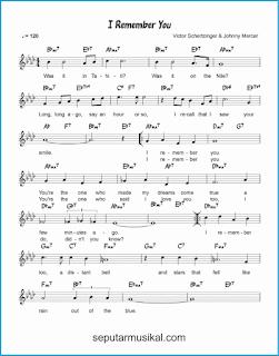 chord i remember you 1 lagu jazz standar