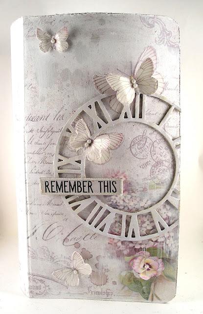 Stamperia Lilac Paper Tim Holtz Sizzix Timekeeper Die Graphic 45 Kraft Travel Album For the Funkie Junkie Boutique
