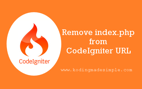 codeigniter remove index.php from url