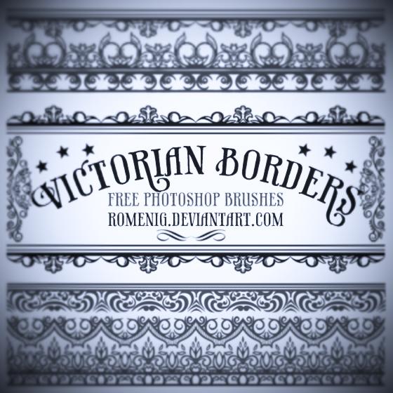 Efeito Photoshop: Victorian Borders Free Photoshop Bruhses