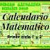Calendario matemático mes de diciembre primer ciclo 1º y 2º grado
