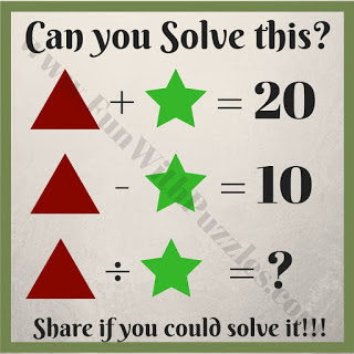 Maths Puzzle With Answer