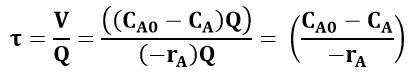 Ecuación de diseño utilizando el concepto de tiempo espacial