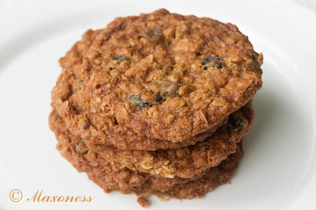 Овсяное печенье с изюмом. Американская кухня