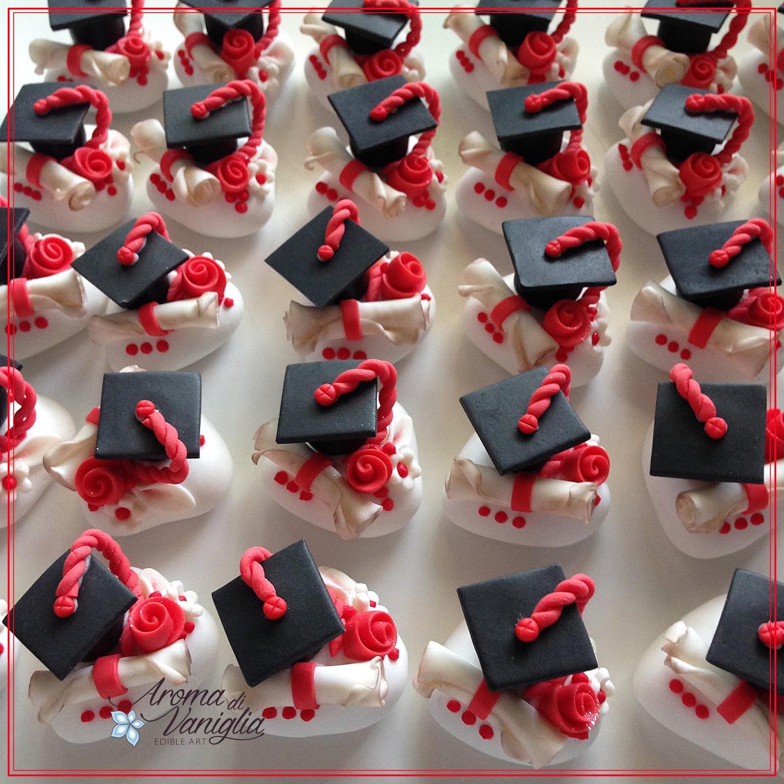 Estremamente aroma di vaniglia: confetti e cupcake per una laurea DH63