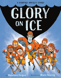 Book cover of Glory on Ice: A Vampire Hockey Story by Maureen Fergus.