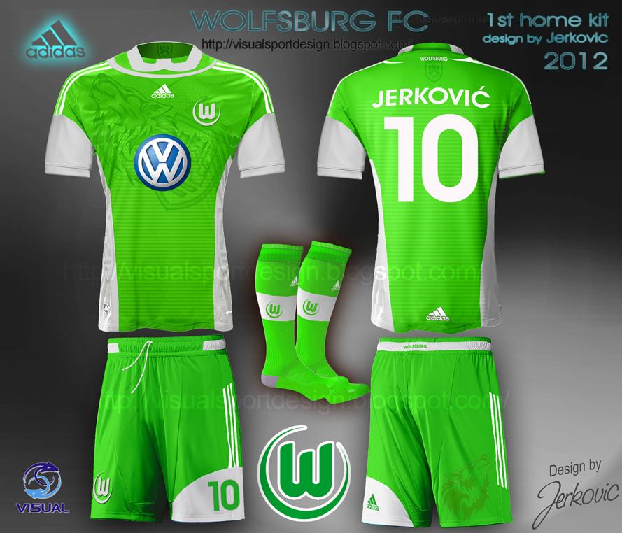 reputable site cd7eb 1df6b Visual Football Fantasy Kit Design: FC WOLFSBURG ADIDAS